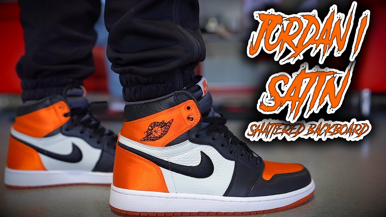de8a4dc382a13a AIR JORDAN 1 SATIN SHATTERED BACKBOARD REVIEW AND ON FOOT !!! - YouTube