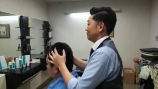 シャンプーの後に頭皮マッサージをします   フェイスラインは自律神経が...
