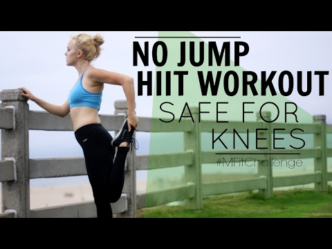 HIIT Workout Safe For The Knees (No Jump) | MFit