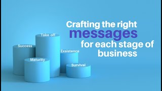 Crafting the right message for each stage of business