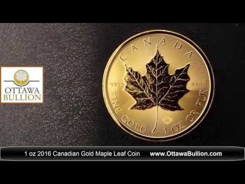 1 oz 2016 Gold Maple Leaf Coins  Buy Gold Ottawa