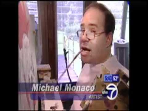 WABC-TV NY Interviews Disabled Artist Michael Monaco