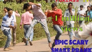 Epic Scary Snake prank/ prank in india by FukrAss TV