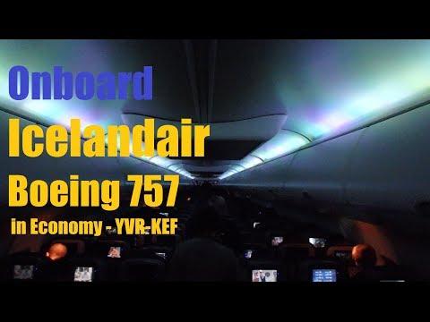 Icelandair | 757 in Economy to Reykjavik YVR-KEF