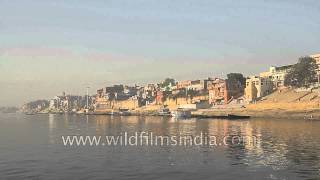 Varanasi - Boat ride on the Ganges with panoramic view of the Ghats