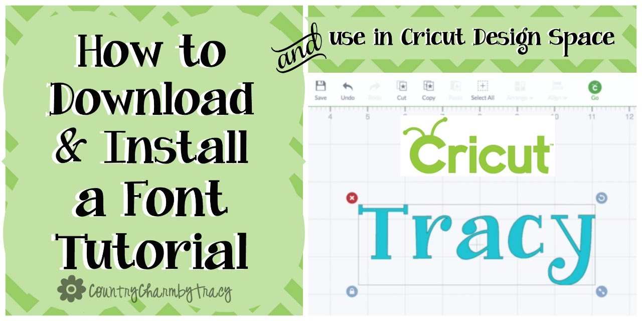 How to Download & Install a Font and Use in Cricut Design Space