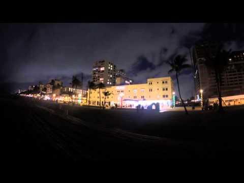 Timelapse - Hollywood Beach Boardwalk