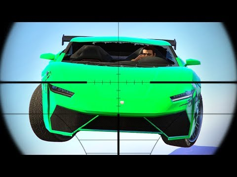 SNIPERS vs. FLYING CARS! (GTA 5 Funny Moments)