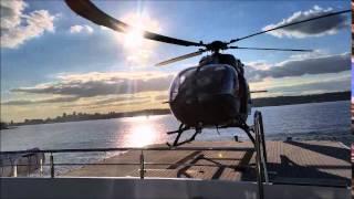 Motor Yacht Tango - Airbus Helicopter H145 Landing