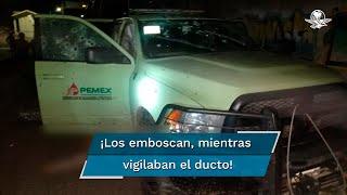 Los elementos fueron emboscados mientras realizaban su patrullaje 24 horas en el Oleoducto y LPG Ducto de la Zona Querétaro