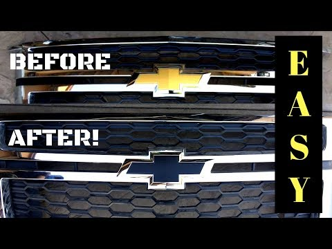 How To Remove And Paint CHEVY Truck Emblems