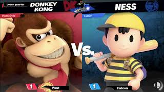 Les mardis de la justices #28 - Pout [Donkey Kong] Vs Falcon [Ness]