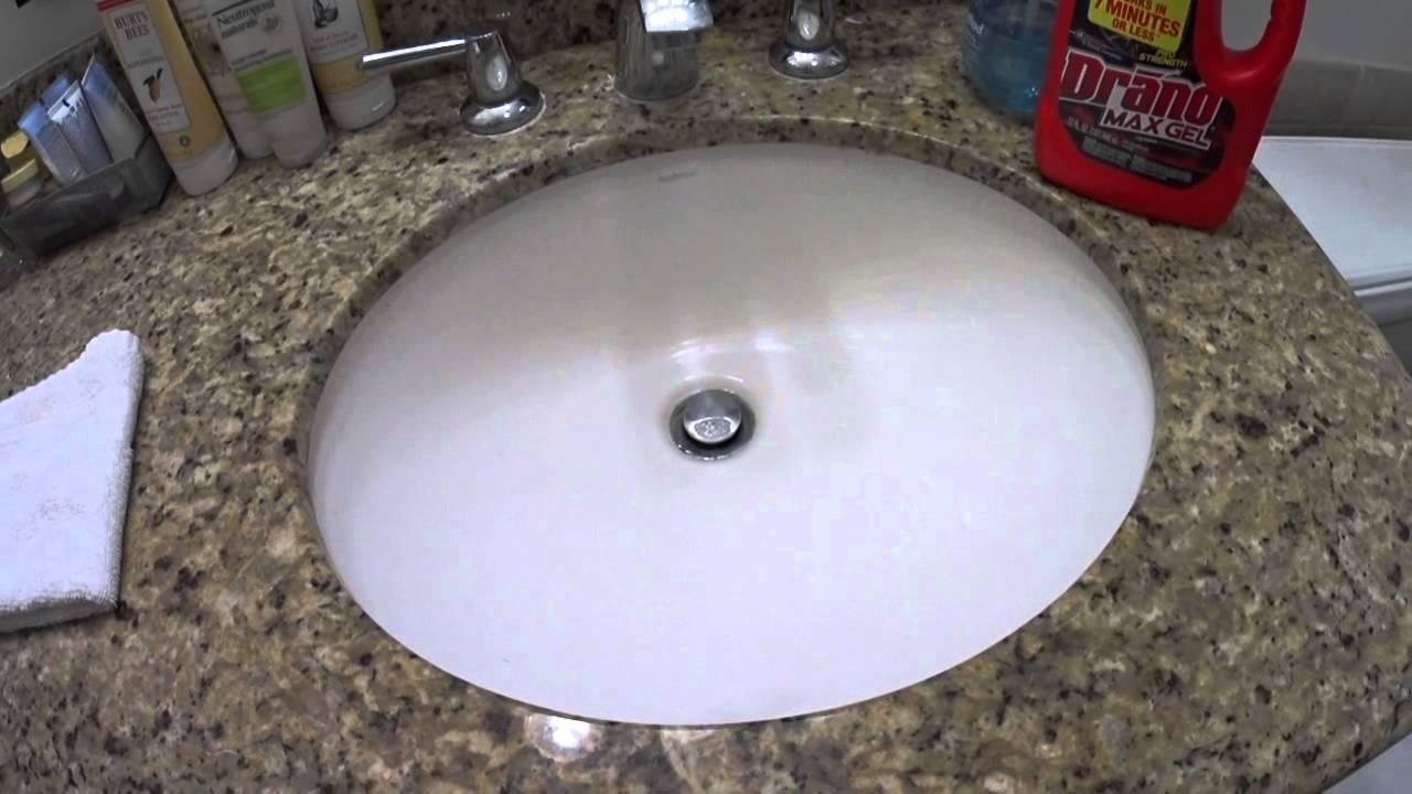 Drano Bathroom Sink Drano Review Youtube