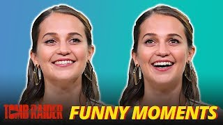 Alicia Vikander 'Lara Croft' Cute & Funny Moments - Tomb Raider