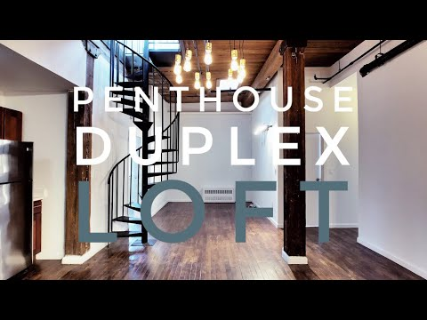 Penthouse Duplex Loft with City Views & Private Rooftop! Vid