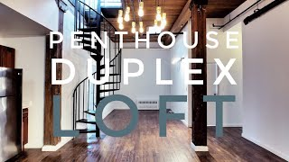 Penthouse Duplex Loft with City Views & Private Rooftop! Video Tour NYC Brooklyn NY