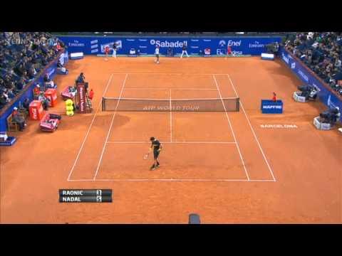 Milos Raonic vs Rafael Nadal Barcelona 2013 Highlights HD