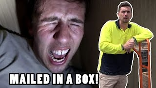 Mailed in a Box Prank! (Human Mail Challenge)