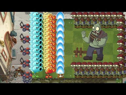 Plants vs Zombies 2 - Snow Pea, Fire Peashooter vs Torchwood