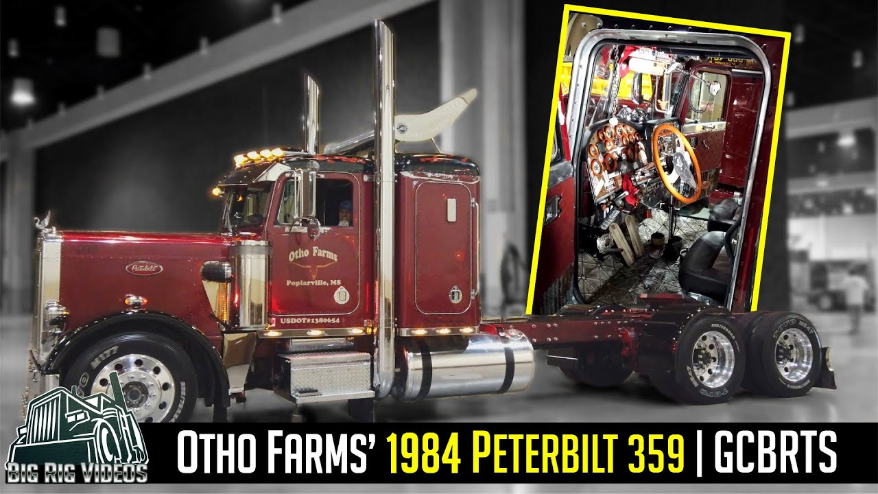 Otho Farms' 1984 Peterbilt 359   The interior is 100% custom and the floorboard dates back to 1930.