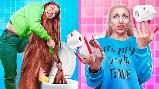 Wearing the Longest Hair and Nails for 24 Hours!