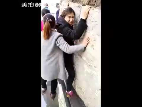 Download Youtube: Glass Bridge In China  - Funny Moments