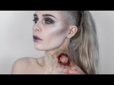 INFECTED ZOMBIE BITE Halloween Makeup Tutorial