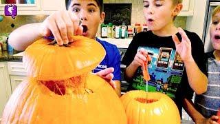 How-To Make Pumpkin Pie! BEST RECIPE! And Pumpkin Seeds with HobbyKidsTV