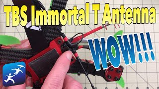 TBS Immortal T Antenna on a FrSky R9 Slim, Yea, it's way better!