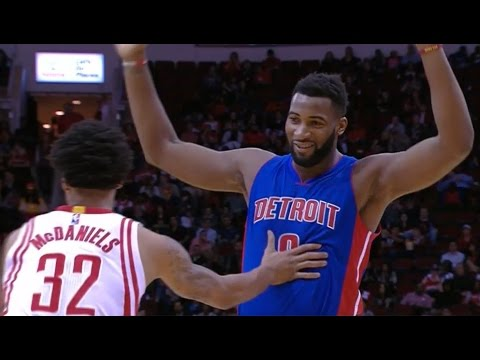 KJ McDaniels 5 fouls in 9 seconds - Hack-A-Drummond | Rockets vs Pistons 21 Jan 2016