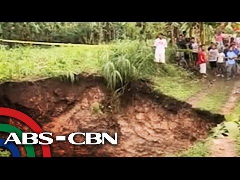 Sinkhole appears in Cebu amid 'Queenie'