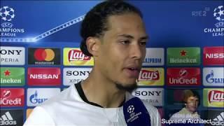 "Virgil Van Dijk ""Who cares"" Post Match Interview Roma 4-2 Liverpool"