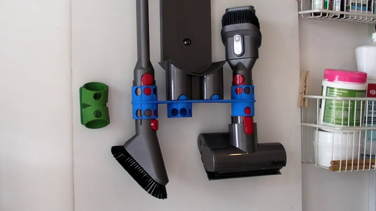 Wall Mount Adapter for Dyson V8 - extra tool holder & Wall Mount Adapter for Dyson V8 - extra tool holder - YouTube