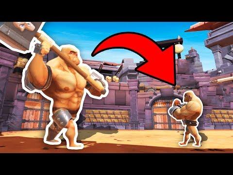 BIGGEST GLADIATOR vs TINIEST GLADIATOR IN VR (GORN Gladiator Simulator VR Funny Gameplay HTC Vive)
