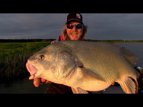 Barn Door Drum Fishing - Waterhen River, Manitoba