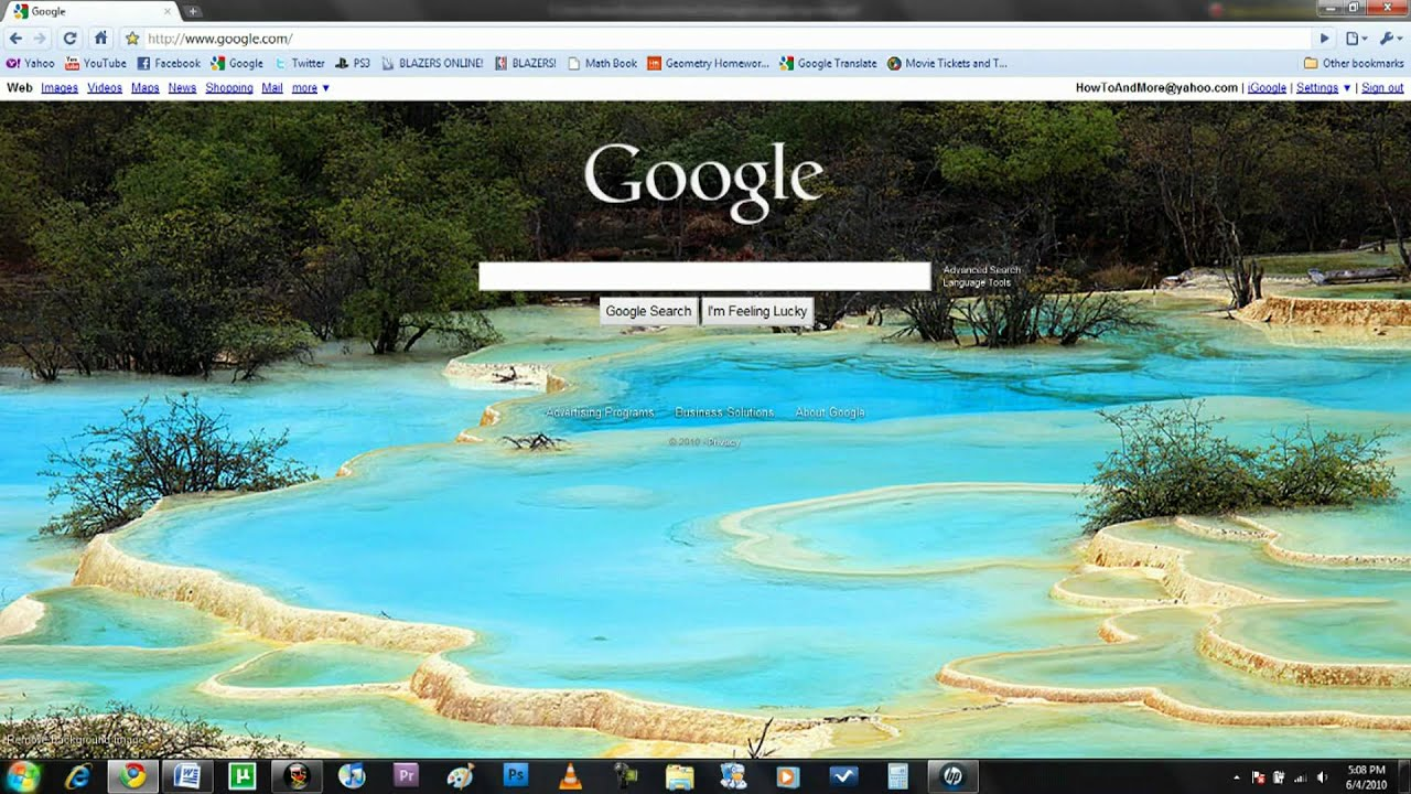 How To Change Google's Background - YouTube