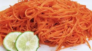 Healthy and Spicy Caŗrot Salad