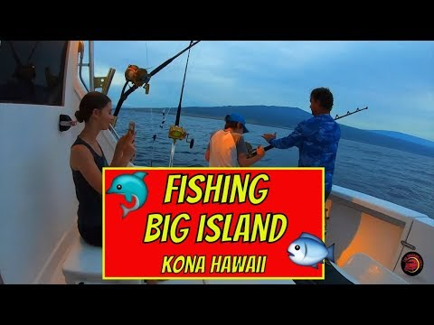 KONA HAWAII - FISHING ON BIG ISLAND - BITE ME SPORTFISHING -TRAVEL VLOG
