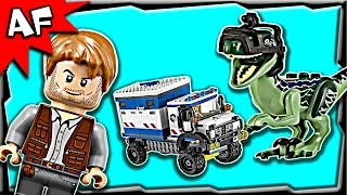 Lego Jurassic World Raptor Rampage 75917 Stop Motion Build Review