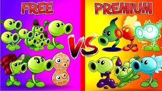 12 x Peashooters Free vs Premium Plants vs Zombies 2 Fire, Electric, Shadow, Snow, Sling, Goo Pea