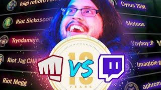 LOL 10 YEAR ANNIVERSARY VERSUS RIOT GAMES AND TRYNDAMERE