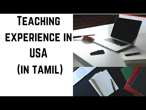 Teaching Experience In USA (in Tamil)