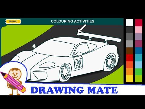 Racing Car Coloring Pages Colouring Book Online Kolorowanki