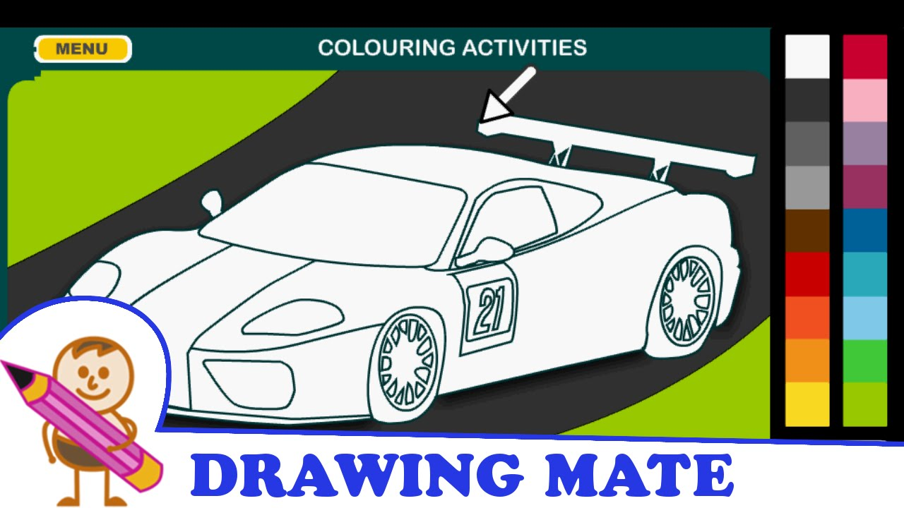 Colouring book on online - Racing Car Coloring Pages Colouring Book Online Kolorowanki Malowanki Gry Samoch D Wy Cigowy Youtube