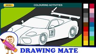Racing Car Coloring Pages Colouring Book Online ♥ Kolorowanki Malowanki Gry Samochód wyścigowy