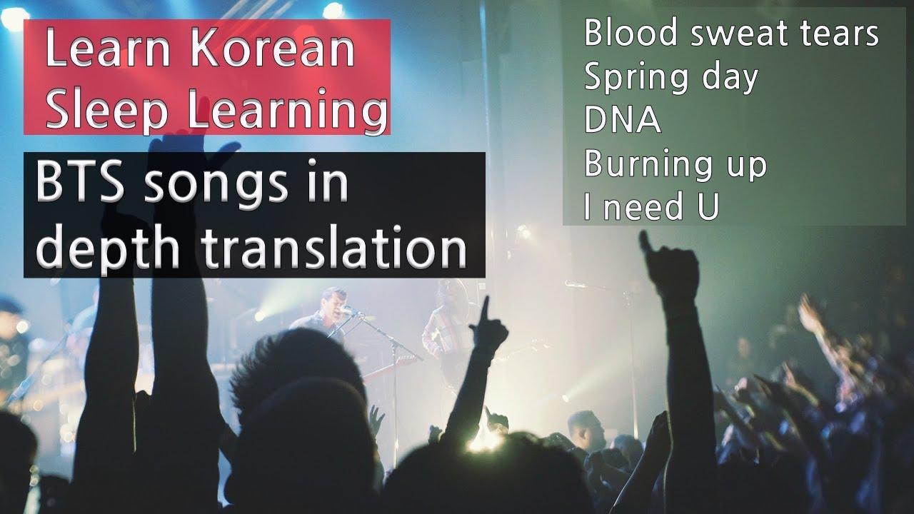 BTS Songs Translated In Depth ★ Learn Korean While You Sleep