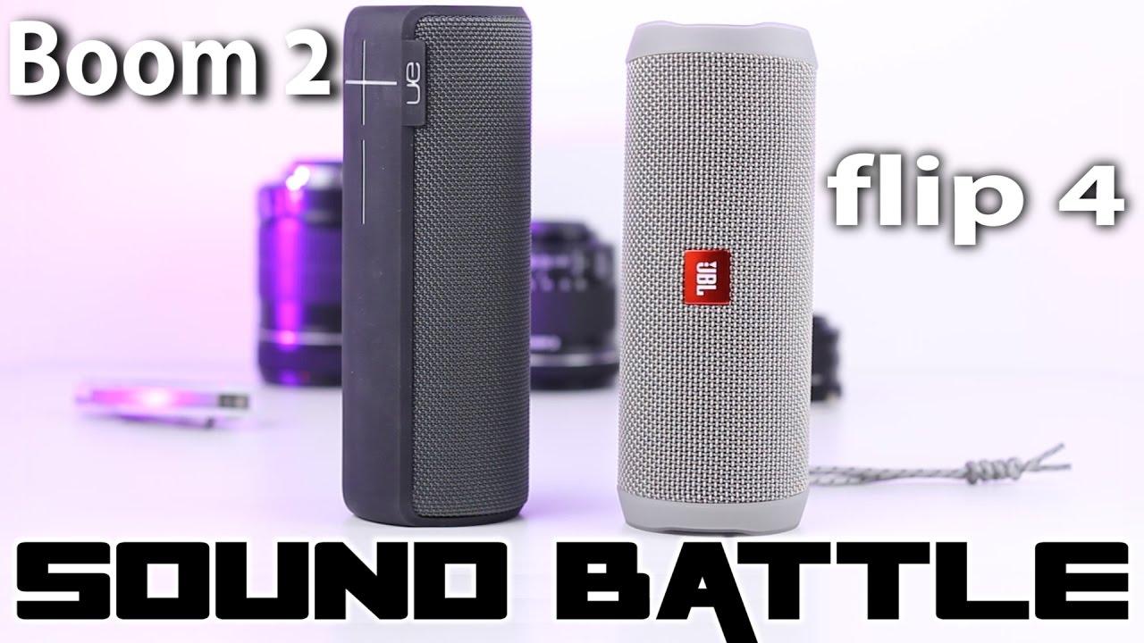 Sound Battle: JBL Flip 4 vs UE Boom 2 -The real sound comparison (binaural  recording)