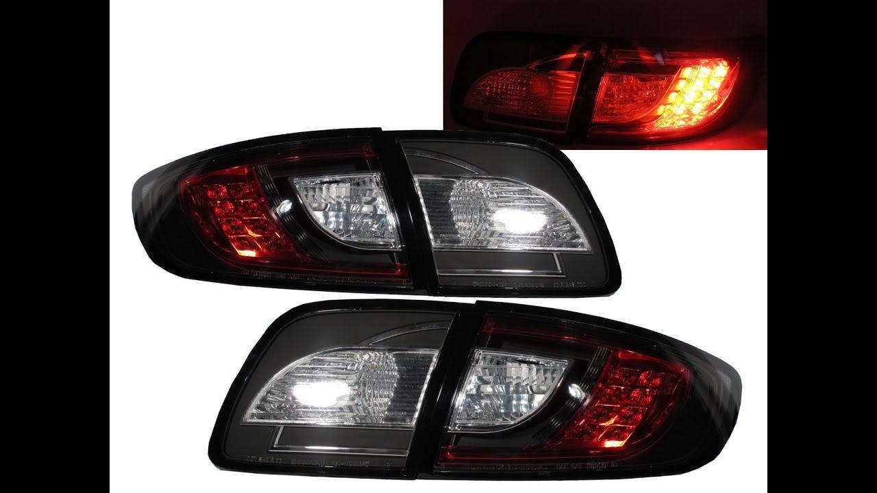 CrazyTheGod    MAZDA    3    2003   2009 BK SEDAN LED    Tail    Rear Light V1 2010 Look BLACK for    MAZDA     YouTube