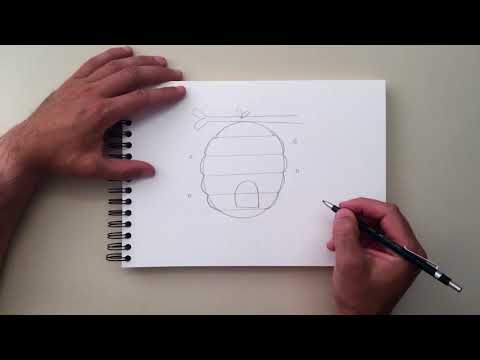 how-to-draw-a-beehive
