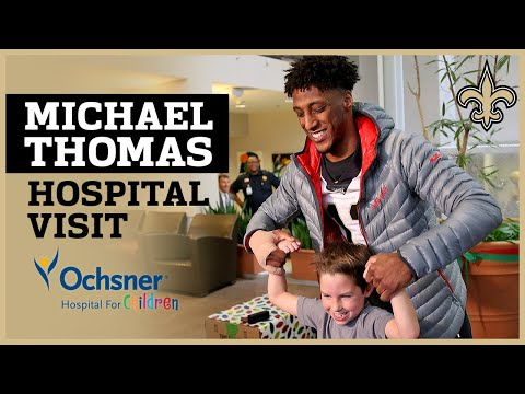 Michael Thomas Visits Hospital Day After Setting NFL Record   New Orleans Saints Football